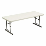 Iceberg Adjustable Height Tables - 72w x 30d x 25-35h - Platinum [ICE65623-FS-NAT]