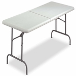 Iceberg IndestrucTables Too Bifold Resin Folding Table - 60w x 30d x 29h - Platinum [ICE65453-FS-NAT]