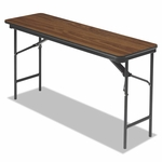Iceberg Premium Wood Laminate Folding Table - Rectangular - 60w x 18d x 29h - Oak [ICE55275-FS-NAT]
