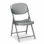 Iceberg Rough N Ready Series Resin Folding Chair - Steel Frame - Charcoal [ICE64007-FS-NAT]