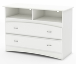 Imagine Collection TV Stand / Storage Unit Pure White [3560043-FS-SS]