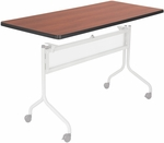 Impromptu® 48'' W x 24'' D Mobile Training Table with Rectangle Top - Cherry [2065CY-SAF]