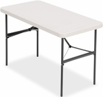 IndestrucTABLE TOO 24'' W x 48'' D Banquet Rectangular Folding Table - Platinum [65503-ICE]