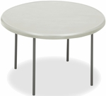 IndestrucTABLE TOO 48'' Round Folding Table - Platinum [65243-ICE]