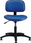 Industrial Vinyl Task Chair with ABS Base and Glides [VS-1-FS-BRWD]