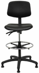 Indy 300 Series Small Back Single Shift Adjustable Swivel and Seat Height Stool [IN222-M20-FS-SEA]