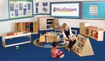 Infant/Toddler Healthy Kids Plywood Classroom Furniture Package with Tuff-Gloss UV Finish - Set of 10 [99911-WDD]