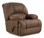 Inglewood Transitional Style Polyester Recliner - Glacier Coffee [189700-7904-FS-CHEL]