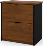 Innova Locking 2 Drawer Lateral File - Tuscany Brown and Black [92630-2163-FS-BS]