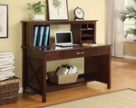 Inspired By Bassett Adeline Desk and Hutch with Pullout Keyboard Shelf and Charging Station - Mocha [BP-ALDH56-W9-FS-OS]