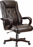 Inspired By Bassett Chapman Thick Padded Executive Chair with Wood Accents - Espresso [BP-CHTX-EC9-FS-OS]