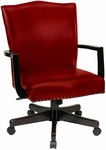 Inspired By Bassett Morgan Eco Leather Managers Chair - Crimson Red [BP-MGTC-EC19-FS-OS]