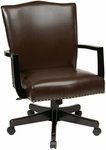 Inspired By Bassett Morgan Eco Leather Managers Chair - Espresso [BP-MGTC-EC1-FS-OS]