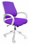 Iona Mesh Chair with White Frame - Purple [60-51840013-FS-COM]