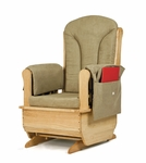Jonti-Craft Glider Rocker with Khaki Green Cushions [8164JC-JON]