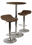Kallie 3-Pc Pub Table and Stool Set in Cappuccino [93344-FS-WWT]