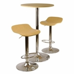 Kallie 3-Pc Pub Table and Stool Set in Natural [93384-FS-WWT]