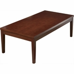 OSP Furniture Kenwood Hardwood Veneer Coffee Table with Fluted Edge Top [KEN19-FS-OS]