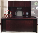 OSP Furniture Kenwood Hardwood Veneer Executive Office Set with Curved Metal Drawer Pulls [KENTYP11-FS-OS]