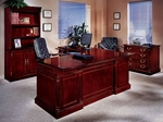Keswick Left Executive L Desk - English Cherry [7990-58-FS-DMI]