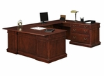 Keswick Right Lateral File U Desk - English Cherry [7990-537-FS-DMI]