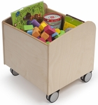 Stow and Go Kid Bin with Heavy Duty Lockable Casters [WB0032-FS-WBR]