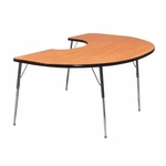 Kidney Tapered Leg Table [72K-TL-A1-IRO]