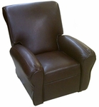 Big Kids Faux Leather Recliner - Pecan Brown [DZD11950-FS-DD]