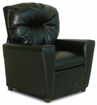 Kids Faux Leather Theater Recliner with Cup Holder - Black [DZD9774-FS-DD]