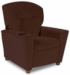 Kids Micro-Suede Theater Recliner with Cup Holder - Chocolate [DZD13100-FS-DD]