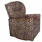 Kids Upholstered Contemporary Rocker Recliner with Tufted Back - Cheetah [DZD10893-FS-DD]