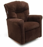 Kids Contemporary Micro-Suede Rocker Recliner with Tufted Back - Chocolate [DZD14440-FS-DD]