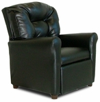 Kids 4 Button Tufted Back Faux Leather Recliner - Black [DZD9974-FS-DD]