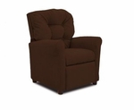 Kids 4 Button Tufted Back Microsuede Recliner - Chocolate [DZD14020-FS-DD]