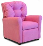 Kids 4 Button Tufted Back Upholstered Recliner - Hot Pink [DZD10147-FS-DD]
