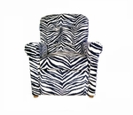 Kids 4 Button Tufted Back Upholstered Recliner - Zebra [DZD14080-FS-DD]