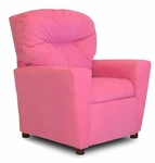 Kids Upholstered Theater Recliner with Cup Holder - Hot Pink [DZD10103-FS-DD]