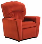 Kids Red ''Suede'' Recliner [1300-1-RS-FS-KW]