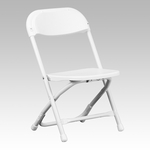 Kids White Plastic Folding Chair [Y-KID-WH-GG]