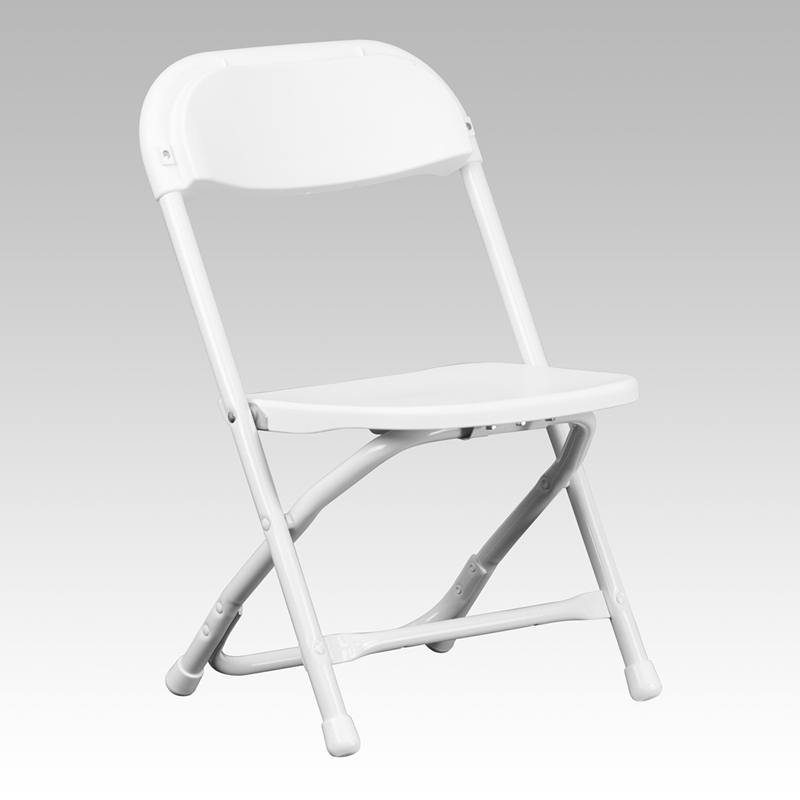 Kids White Plastic Folding Chair Y KID WH GG by Flash Furniture
