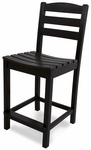 POLYWOOD® La Casa Cafe Counter Side Chair - Black [TD101BL-FS-PD]