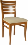 Ladder Back Side Chair in Cherry Wood Finish [HTG-001-122-CHY-HC]