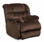 Laguna Transitional Style Polyester Power Recliner - Sharpei Chocolate [189460-5980-PWR-FS-CHEL]