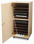 Lockable Laptop Security Cabinet with Easy Access to Plugs [WB0779-FS-WBR]