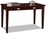 Home Office 48''W x 30''H Writing Desk with Drop Down Front and Slide Out Keyboard Tray - Chocolate Cherry [81400-FS-LCK]