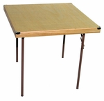 Caterer Elite Series Small Card Table with Non Marring Floor Glides - 32''W x 32''L x 30''H [225000-MES]