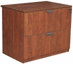 Legacy 29''H 2 Drawer Locking Wooden Lateral File Cabinet - Cherry [LPLF3624CH-FS-REG]