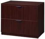 Legacy 29''H 2 Drawer Locking Wooden Lateral File Cabinet - Mahogany [LPLF3624MH-FS-REG]