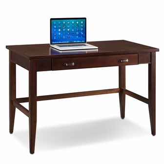 laurent x solid wood writing desk with pull out keyboard drawer chocolate cherry 10511fslck - Keyboard Drawer