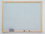 Quick Ship WLCS Series Deluxe Markerboard with Wood Frame - 48''W x 48''H [WLCS44-CLA]